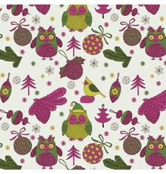 owl xmas decoration vector image
