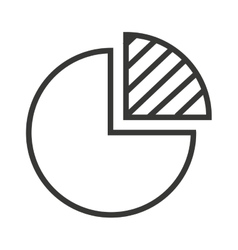 pie statistics graphic isolated icon vector image