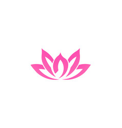 pink lotus flower business logo vector image