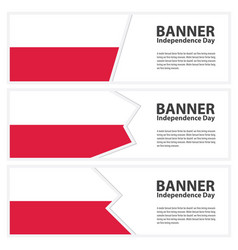 Poland flag banners collection independence day vector