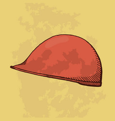 protective helmet for construction vector image