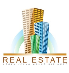 Real estate agency logo vector