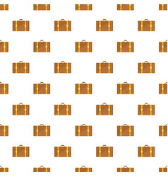 retro suitcase pattern seamless vector image