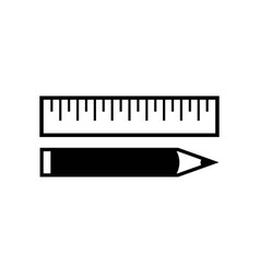 ruler and pencil icon icon simple element ruler vector image