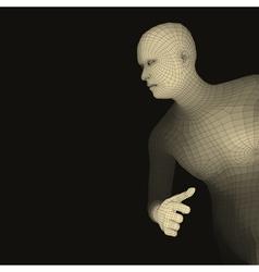 Running Man Polygonal Design 3D Model of Man vector