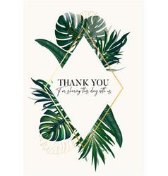 Safari palm tropical garden luxury vector