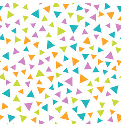 Seamless geometric pattern with triangles vector