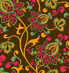 Seamless pattern of paisley ornament vector