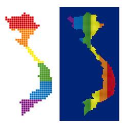 spectrum pixel dotted vietnam map vector image