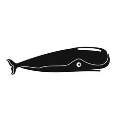 sperm whale icon simple style vector image