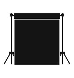 Studio backdrop icon simple style vector