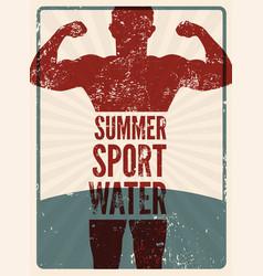 summer sport typographic vintage grunge poster vector image