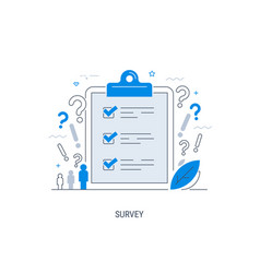 survey flat concept with quality test and vector image