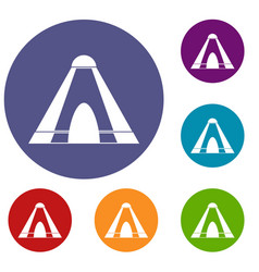 tepee icons set vector image