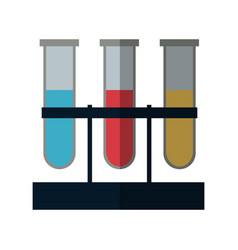 test tubes icon vector image