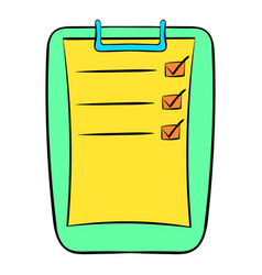 To do list icon cartoon vector