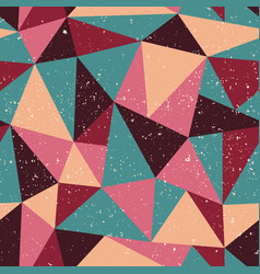 triangle seamless pattern with grunge effect vector image