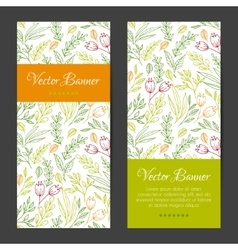 vertical banners cards invitations set vector image