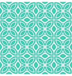 Vintage art deco pattern with 1970s motifs vector
