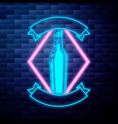 vintage beer brewery emblem vector image