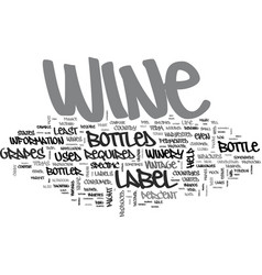 Wine labels decoded text word cloud concept vector