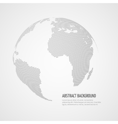 World map infographics template with vector image