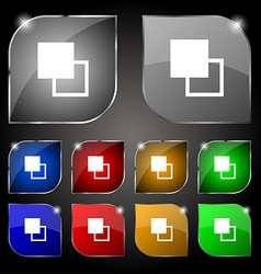Active color toolbar icon sign Set of ten colorful vector image vector image