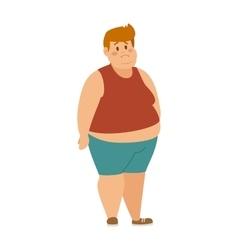 Cartoon character of fat boy vector