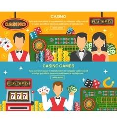 Casino And Gambling Banners Set vector image