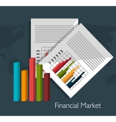 Financial market graphic vector image