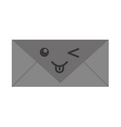 kawaii envelope cartoon vector image