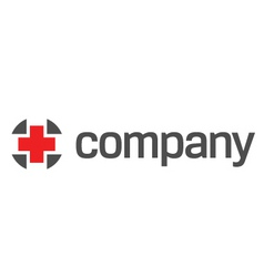 red cross for healthcare logo vector image vector image