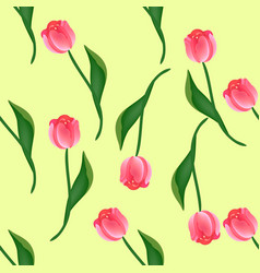seamless floral pattern with tulips vector image
