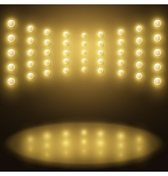 stage yellow lights Abstract sparkling background vector image vector image