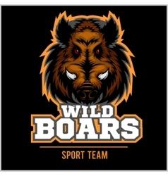 Wild Hog head Mascot vector image