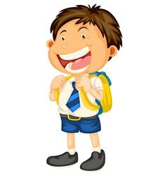 a boy going to school vector image vector image