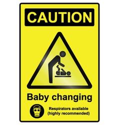 Baby Changing Hazard Sign vector image
