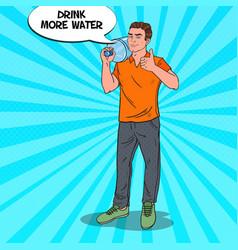 deliveryman holding water jug pop art vector image vector image