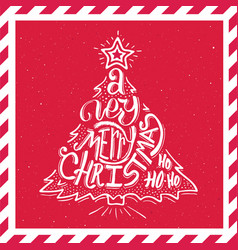 merry christmas typography card vector image
