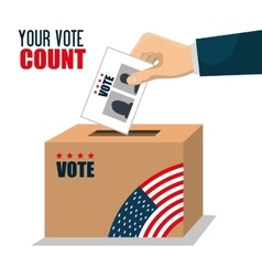 vote ballot voting box graphic vector image
