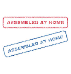 Assembled at home textile stamps vector