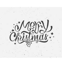 Black and white vintage poster for Christmas vector image