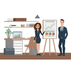 Business professional work team Meeting and vector image vector image