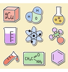chemistry icons - stickers vector image vector image