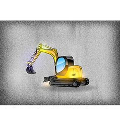 construction grey texture excavator vector image vector image