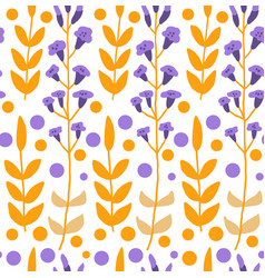 cute floral seamless pattern vector image