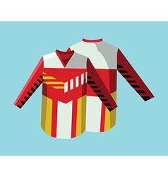 Hockey sportswear uniform vector