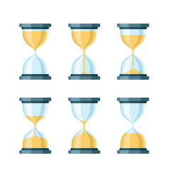 hourglass modern icons set vector image vector image