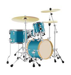 realistic drum kit vector image