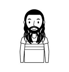 Reggae man character icon vector